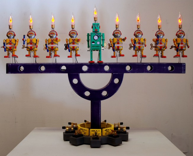 Toy Robot Menorah